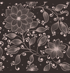 Flower seamless pattern element elegant vector