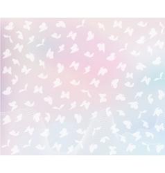 flying butterflies in pastel colors vector image