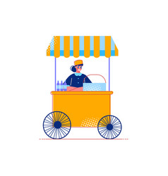 food stall icon vector image