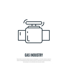 gas valve icon gas industry sign line art style vector image