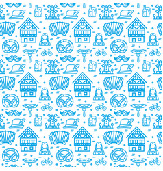 germany octoberfest signs seamless pattern vector image