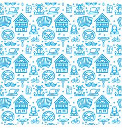 germany oktoberfest signs seamless pattern vector image