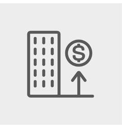 Good location high price thin line icon vector