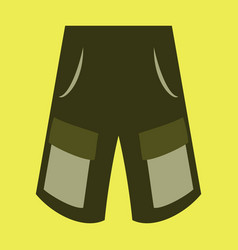 Icon in flat design fashion clothes shorts vector
