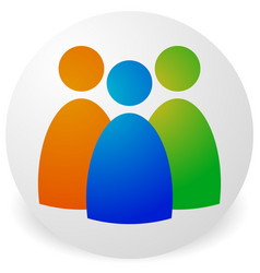 icon with three figures - businessmen characters vector image