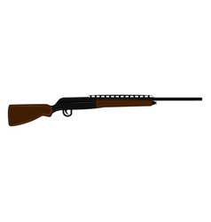 isolated shotgun icon vector image