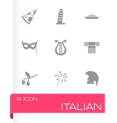 Italian icon set vector