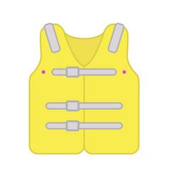 life jacket icon yellow design vector image