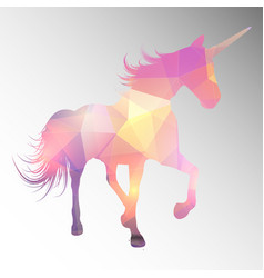 low poly unicorn design vector image