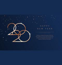 luxury 2020 happy new year background golden vector image
