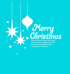 merry christmas background in minimalistic style vector image vector image