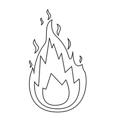 monochrome silhouette of flame icon vector image