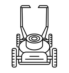 Motor lawn mower icon outline style vector