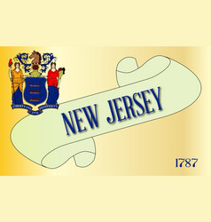 New jersey scroll vector