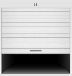 open roller shutter safe garage door vector image