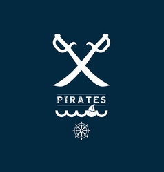 pirates sign set one on blue vector image