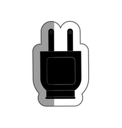 plug energy isolated icon vector image