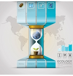 sandglass global ecology and environment vector image
