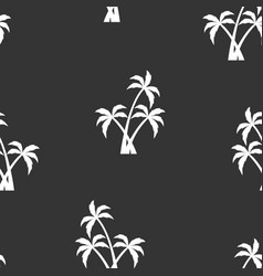 seamless pattern with white palm trees vector image
