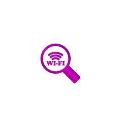 Search wi-fi connection flat icon vector