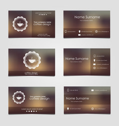 Set of business cards for coffee vector