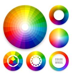 Set of color wheels vector image