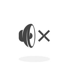 Speaker off icon logo on white background vector
