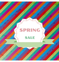 spring sale colorful retro background vector image