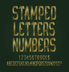 stamped golden letters numbers dollar and euro vector image