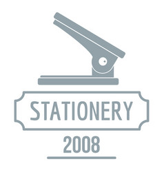 Stapler logo simple gray style vector