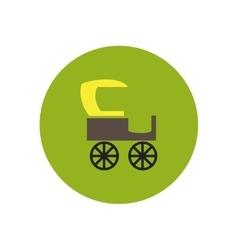 Stylish icon in color circle retro carriage vector