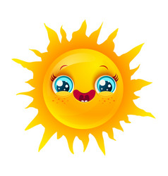 sun emoji vector image
