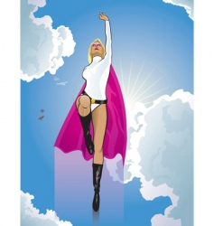 super woman flying vector image