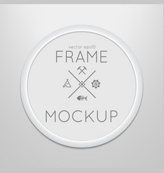 Template of round frame with poster vector
