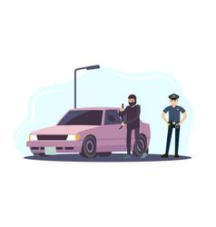 Theft car thieves man take apart vector