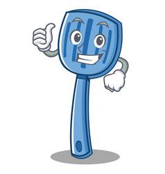 thumbs up spatula character cartoon style vector image