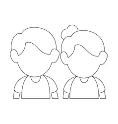 Upperbody cute couple vector