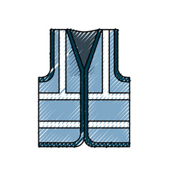 Vest industrial security vector