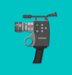 video camera in vintage style vector image