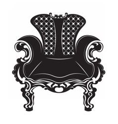Vintage Baroque armchair vector image vector image