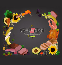 Vitamin b6 background vector