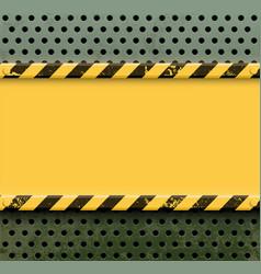 yellow metal plate vector image