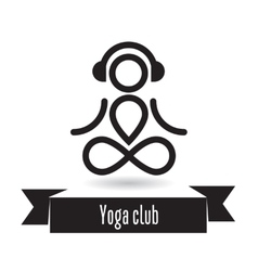Yoga club design vector