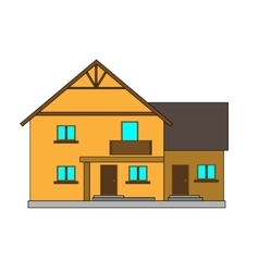 Flat house for the creation of vector image vector image