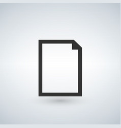 new blank document icon isolated for graphic and vector image