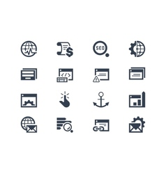 Seo Search engine optimization icons vector image vector image