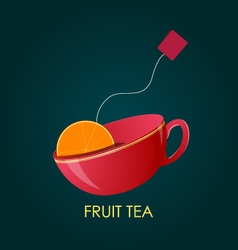 Abstract Fruit Tea Ceramic cup vector image