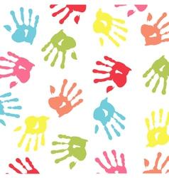 baby handprint wallpaper vector image