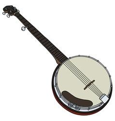 Classic five string banjo vector image
