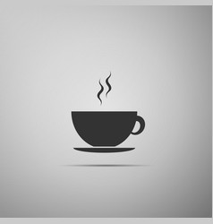 coffee cup flat icon on grey background tea cup vector image